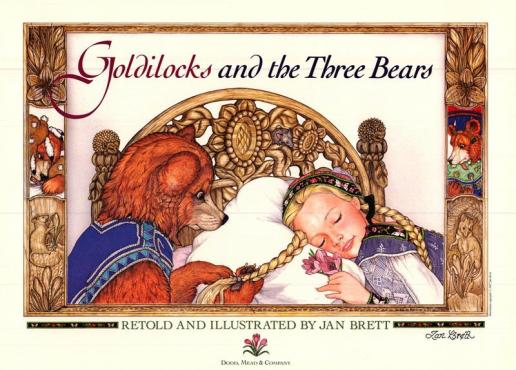 JanBrett Goldilocks and the three bears