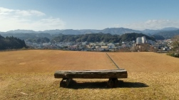 a view of Hitoyoshi from the site of (now non-existent) Hitoyoshi castle